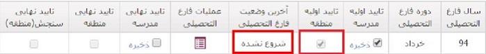 ثبت درخواست در سامانه فارغ التحصیلی امین edu.medu.ir بعد از تایید اولیه منطقه